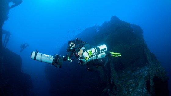 Pedro Lage na expedição ao Britannic