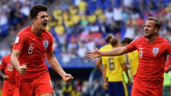 Com a Suécia não foi preciso Kane: Maguire marcou o oitavo golo inglês de bola parada num total de 11 no Mundial
