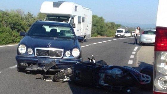 Primeiras imagens do local do acidente (imagem retirada do Daily Mail)