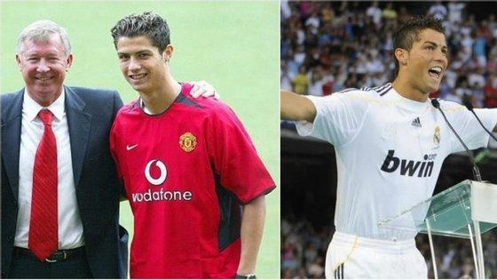 2003 vs 2009: as duas apresentações de Cristiano Ronaldo. Esta segunda-feira, é Turim que recebe o capitão português