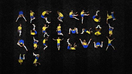 É possível recriar as 26 letras do alfabeto com as quedas de Neymar durante o Mundial