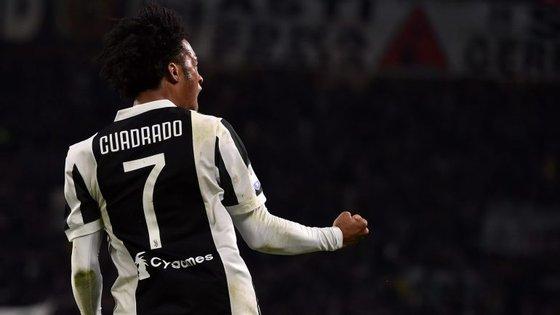 Cuadrado fez três anos na Juventus e ganhou três Campeonatos e três Taças. Agora, sonha com a Champions