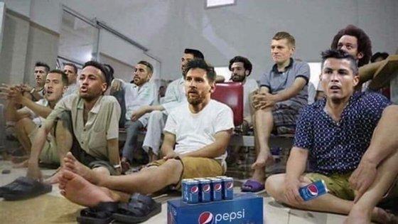 Neymar, Messi e Ronaldo não fugiram aos memes na final disputada entre França e Croácia