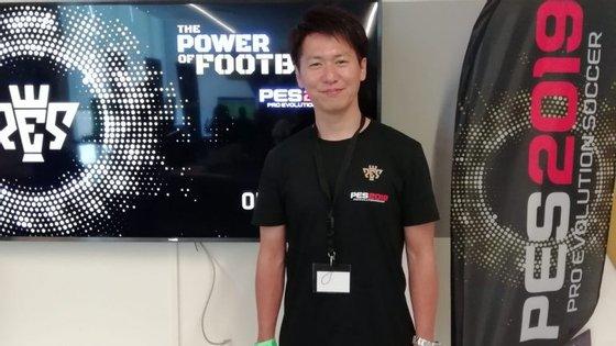 Kei Masuda é o assistant producer de Pro Evolution Soccer 2019, e esteve presente no evento que teve lugar na Cidade do Futebol.