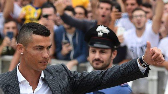 Cristiano Ronaldo saiu este verão do Real Madrid e transferiu-se para a Juventus