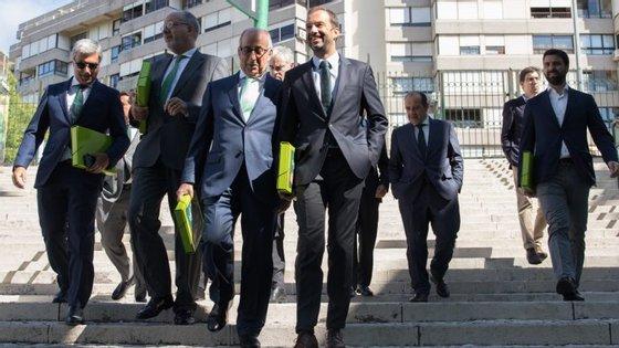 Frederico Varandas oficializou esta manhã a candidatura à presidência do Sporting em Alvalade