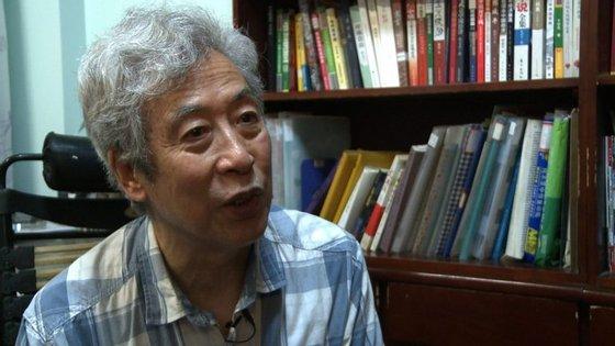 O ativista chinês Sun Wenguang