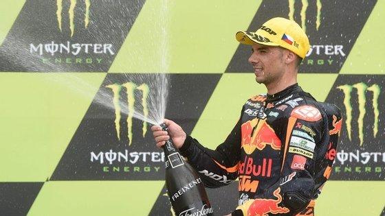 Miguel Oliveira fez a festa em Brno, na Rep. Checa, onde conquistou a segunda vitória da temporada no Mundial