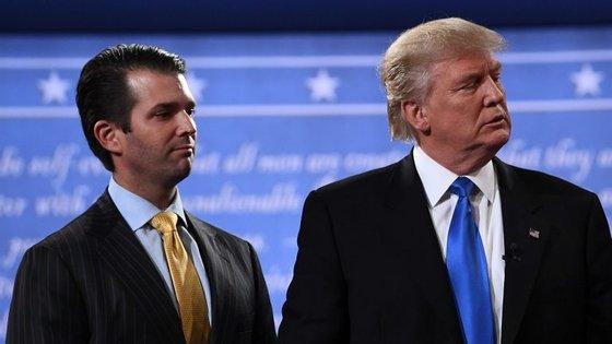 Donald Trump Jr. e o pai