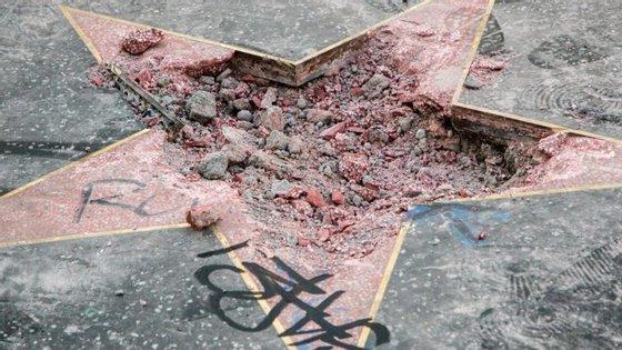 No final de julho, a estrela de Donald Trump no Hollywood Walk of Fame foi destruída