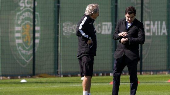 André Geraldes foi team manager do futebol profissional do Sporting que tinha como treinador Jorge Jesus