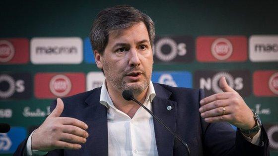Bruno de Carvalho denunciou esta manhã as ameaças que levaram ao cancelamento da passagem por Reguengos
