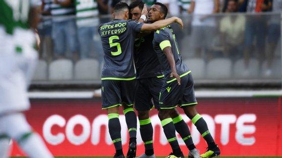 Bruno Fernandes marcou um golo, fez uma assistência mas foi sobretudo o grande líder em campo do Sporting com o Moreirense