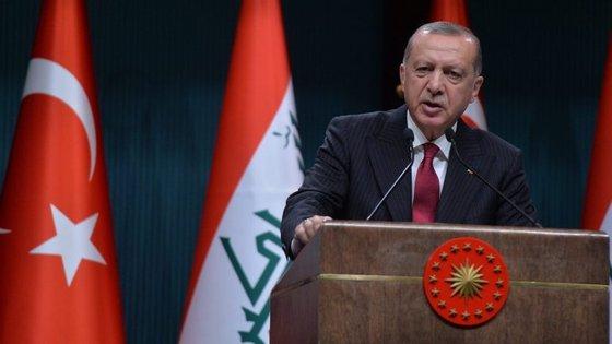 No seu discurso no congresso o Presidente turco fez referência à turbulência económica na Turquia