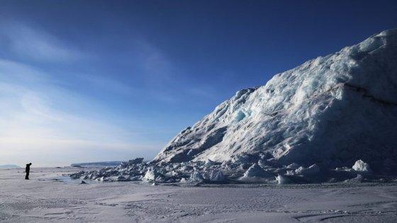 A NASA (agência espacial norte-americana) continua a monitorizar a perda de gelo no Ártico