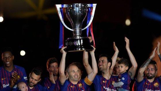O Barcelona venceu a última edição do campeonato espanhol