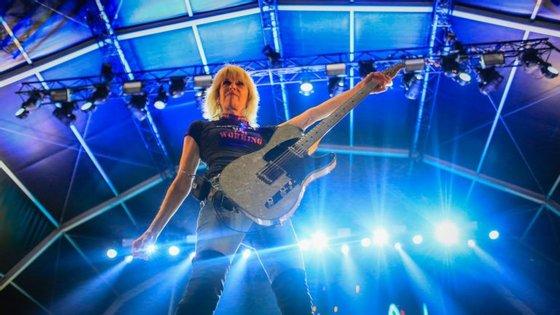 A banda de rock The Pretenders atuou esta quinta-feira em Vilar de Mouros