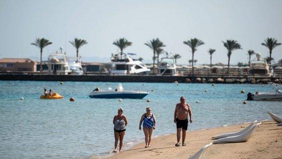 O resort de Hurghada é um dos mais populares no Mar Vermelho