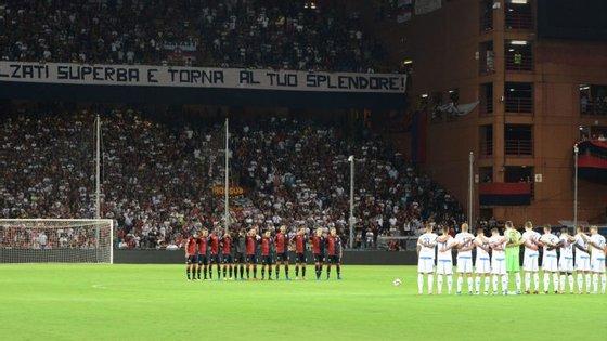 Este foi o primeiro jogo do Génova em casa depois do desastre da ponte Morandi