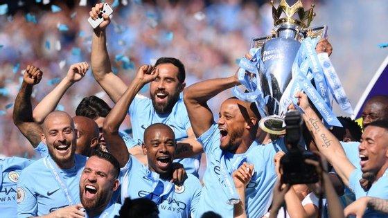O Manchester City é o atual detentor da Premier League