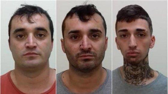 """Os irmãos gémeos Manuel e Fernando Santos e um terceiro membro da fuga, """"Shevchenko"""""""