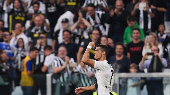 Ronaldo marcou o quinto golo em nove jogos da Serie A pela Juventus mas não conseguiu impedir o primeiro empate do Campeonato
