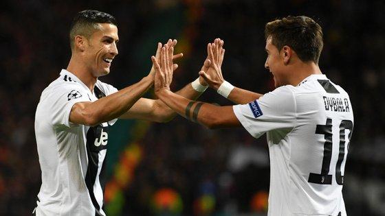 Ronaldo fez o cruzamento, Cuadrado não conseguiu desviar ao primeiro poste e Dybala fez o golo que decidiu o jogo
