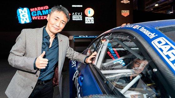 """Kazunori Yamauchi, o histórico criador da série """"Gran Turismo"""" esteve presente em Madrid para assistir à Final Europeia."""