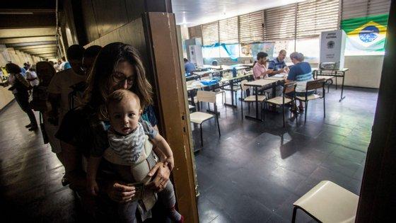 As urnas nas cidades mais a Este (Rio de Janeiro, São Paulo, Salvador, etc) fecharam às 20h00 de Lisboa. As últimas a fechar são no Acre, às 22h00