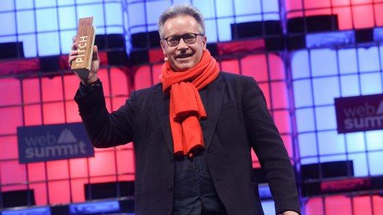 Uwe Diegel, francês, venceu o prémio de melhor Pitch na Web Summit 2017, atribuído à melhor startup