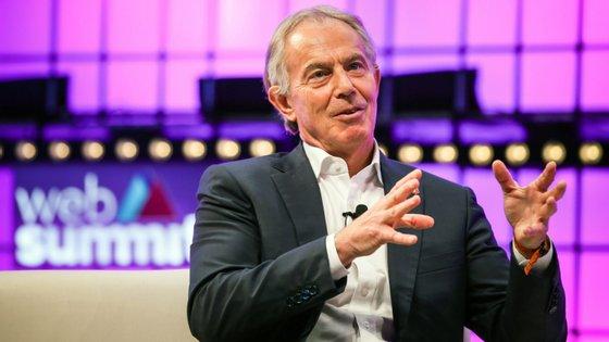 Tony Blair, antigo primeiro-ministro do Reino Unido, foi um dos destaques do dia