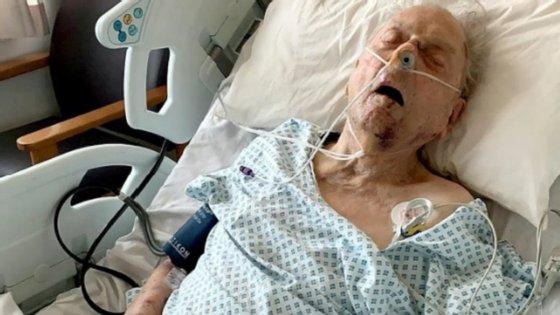 (Peter Gouldstone, veterano de guerra de 98 anos internado após o assalto a sua casa) - créditos: Polícia Metropolitana de Londres