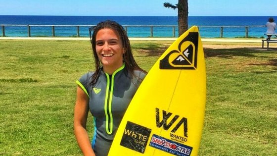A surfista portuguesa Mariana Rocha Assis (fotografia retirada da sua página no Facebook)