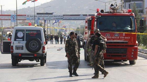 Imagem dos serviços de emergência no ataque de setembro, que matou 20 pessoas