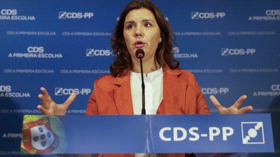 A presidente do CDS-PP falava numa sessão de apresentação da proposta de Orçamento do Estado para 2019 aos militantes e simpatizantes do CDS-PP, no concelho da Batalha, distrito de Leiria