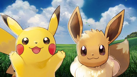 """""""Pokémon Let's Go"""" está disponível em duas versões: Pikachu e Eevee."""