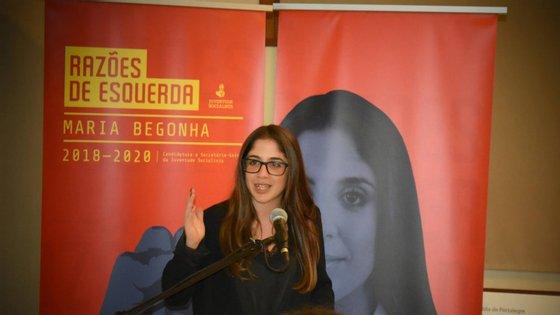 Maria Begonha é, para já, a única candidata à liderança da JS. (Foto: Razões de Esquerda)