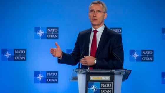 Jens Stoltenberg é o secretário-geral da NATO (em português OTAN, Organização do Tratado do Atlântico Norte)
