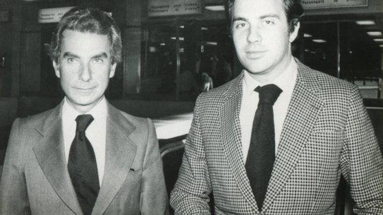António Patrício Gouveia (à direita) com o primeiro-ministro Francisco Sá Carneiro