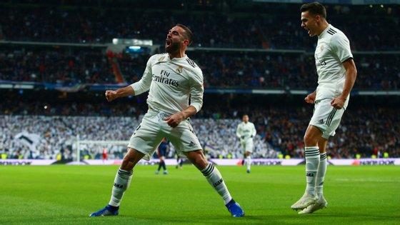 Dani Carvajal fez o cruzamento que deu origem ao auto golo de Wass e começou a jogada do segundo do Real Madrid