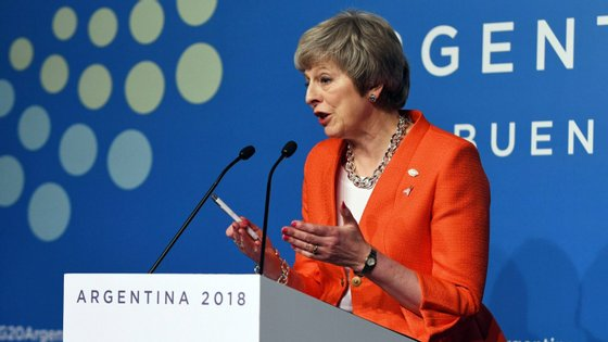 A primeira-ministra britânica, Theresa May, saudou este sábado as conclusões da cimeira dos líderes do G20