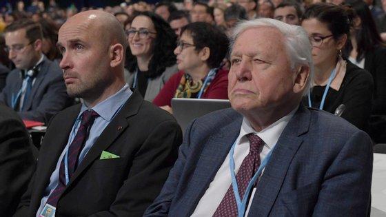 """""""Líderes do mundo, vocês têm de liderar. A continuação da civilização e do mundo natural, do qual nós dependemos, está nas vossas mãos"""", concluiu Attenborough na sua apresentação."""