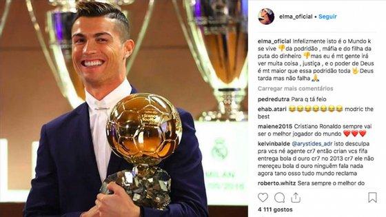 Cristiano Ronaldo já conquistou cinco Bolas de Ouro na carreira. Desta vez foi o segundo mais votado, atrás de Luka Modric
