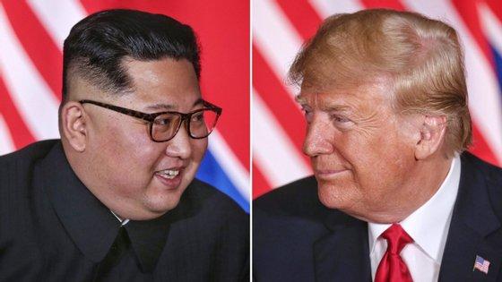 Os líderes norte-coreano, KimJong Un, e norte-americano, Donald Trump protagonizaram uma cimeira história em junho