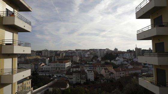 Vista geral sobre Leiria, Portugal
