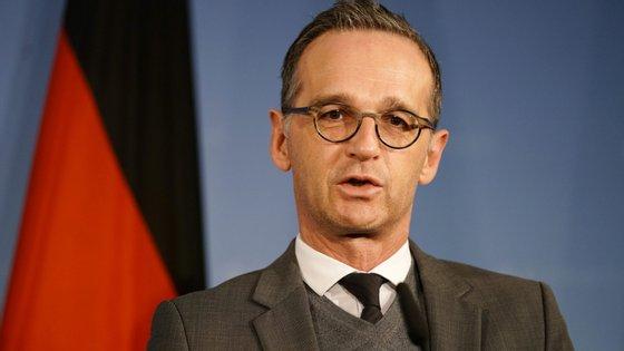 Heiko Maas, o ministro dos Negócios Estrangeiros alemão
