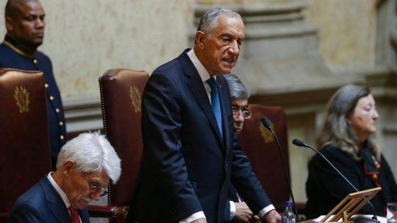 O chefe de Estado falava numa cerimónia de celebração dos 70 anos da Declaração Universal dos Direitos Humanos, na Sala do Senado da Assembleia da República