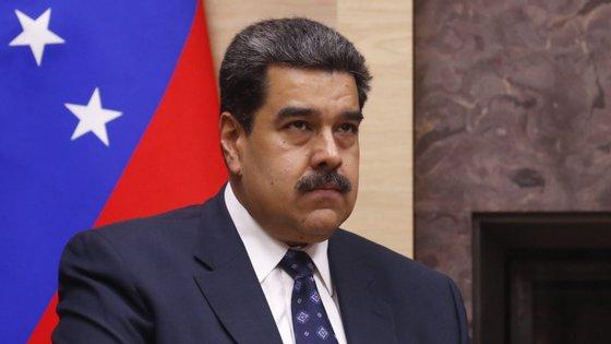 O Presidente da Venezuela, Nicolás Maduro, durante o encontro com o presidente russo, Vladimir Putin, a 5 de dezembro de 2019