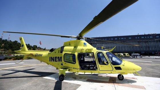 O helicóptero que se despenhou em Valongo era um Agusta 109S, semelhante a este (Paulo Jorge Magalhães / Global Imagens)