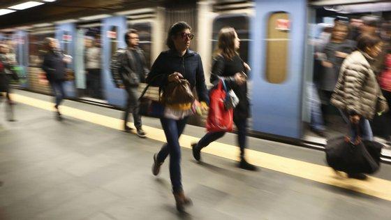 Metro de Lisboa com alterações à circulação na noite de 24 para 25 de dezembro